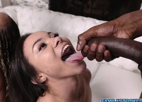 Dark-hued Misty and Adriana in a..