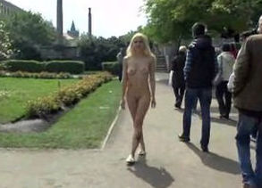 Blond vanessa bare on public streets