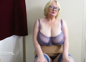 Matching blue lingerie and