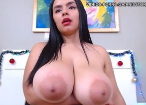 Obese latina wiggling phat breasts