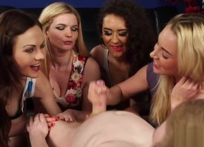 cfnm stunners laugh and masturbate