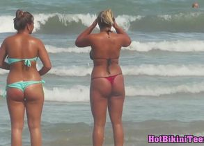 Thick Titties Swimsuit Panty beach..
