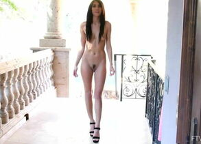 Slim Style Model Dana Dances Naked and..