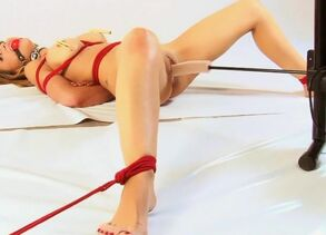 Slavegirl Stripped, Spread, Corded and..